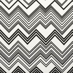 Black Linear Chevron Cotton Jersey Blend Knit Fabric :: $6.50