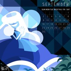 ❄️ 2018 Calendar ❄️ the birthstone of September: Sapphire! Sep facts: I predict September will be a wonderful month! starting with the wonderful Opal Aimee Mann celebrating her bday on the 8th! Then...