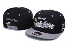 6.9  Mitchell Ness Oakland Raiders Snapback Hats - Black 3d05dddb1df