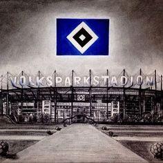Tolles Bild vom Volksparkstadion    Nur der HSV, immersteLiga
