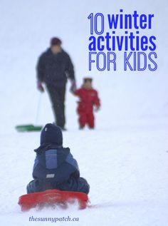 Winter activities for kids - outdoor fun for kids and families. Includes a FREE printable winter scavenger hunt!