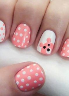 Easy Polka Dots Nail Art  easynaildesigns.org/nail-designs-for-kids/