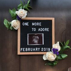 Letter board Pregnancy announcement