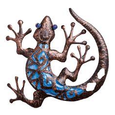 Gecko Metal & Glass Wall Art