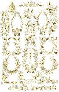 ABC-Designs-21-Grapes-N-Wheat-Machine-Embroidery-Designs-Set-5-x7-hoop