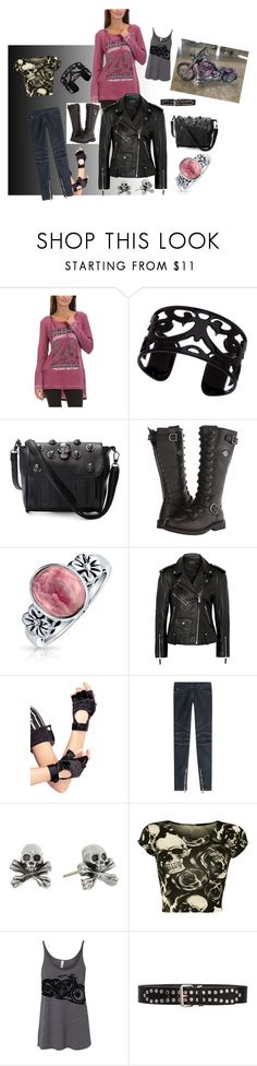 """""""Biker Beauty"""" by tricia-ann-lord on Polyvore featuring Urban X, Lisa August, Harley-Davidson, Bling Jewelry, Theory, Leg Avenue, Balmain, King Baby Studio, WearAll and Yves Saint Laurent"""