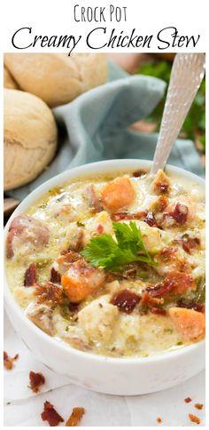 Crock pot Creamy Chicken Stew:
