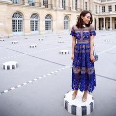 "MELANIE on Instagram: ""Wearing my favourite dress from @mrselfportrait at Palais Royal!  #mrselfportrait #zara #chanel #Honeymoon #Europe #Paris"""