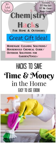 Chemistry Hacks for Home and Outdoors PURCHASE NOW By: Alexis Rochester, B.S Professional Chemistry An easy to use eBook full of over 30+ DIY solutions for cleaning the kitchen, bathroom room, living room, laundry, and outdoor. This ebook also contains a complete home chemical reference guide to show you not only all the items needed …