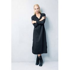 SALE 40% Midi black dress,Little Black Dress,v neck dress,Black Dress,Long Sleeves Dress,Winter Black Dress,v neck black dress,elegant dress by MichalEmma on Etsy