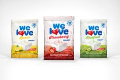 We Love Flavoured Yogurt Identity and Packaging Design