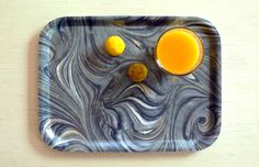 Breakfast tray in the pattern 'Northern Lights' by Studio Formata. Available at studioformata.se, we ship worldwide!