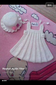 Alıntı Kids And Parenting, Bathroom Ideas, Summer Dresses, Fashion, Outfits, Knit Dress, Dresses For Babies, Dots, Tejidos