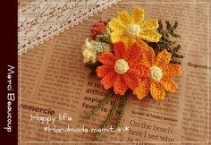 Crochet Bouquet, Crochet Brooch, Crochet Motif, Crochet Earrings, Crochet Small Flower, Knitted Flowers, Cute Crochet, Small Flowers, Beautiful Flowers