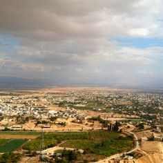 Oldest city in the world, cool to visit!! Looking over the town of Jericho in the west bank of Palestine toward the dead sea.