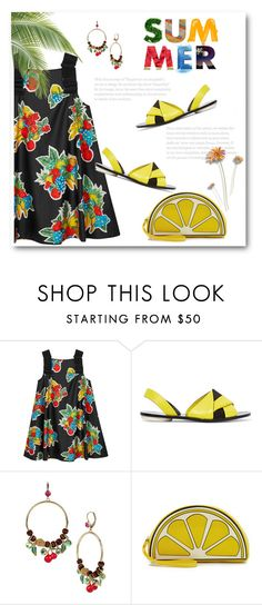 """""""Fruity"""" by bliznec ❤ liked on Polyvore featuring Victoria, Victoria Beckham, Proenza Schouler, Betsey Johnson and Yazbukey"""