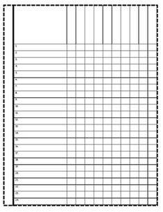 Blank Class list Table 28 names | Avery teaching | Class ...