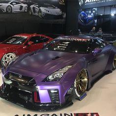 ☆ NISSAN GTR . . #japan #tokyo #tokyoautosalon #show #motorshow #car #carporn #nismo #nissan #gtr #r35 #stancenation #drift  #purple #usdm #jdm #aimgain #toyo #toyotires  #東京オートサロン