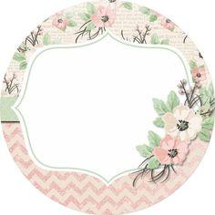 Tarjetas Printable Designs, Printables, Borders And Frames, Chocolate Gifts, Note Paper, Vintage Labels, Flower Frame, Sticker Design, Craft Fairs