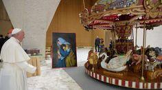 El Papa en un momento del encuentro con los artistas. Foto: L'Osservatore Romano