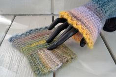 Cozy Wool Blend Wrist Warmers/Fingerless Gloves-Multi-Color