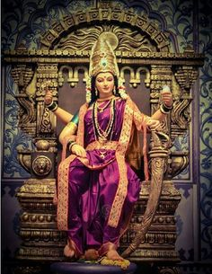 Maa Chandi is the total energy of the universe. Lord Durga, Durga Ji, Saraswati Goddess, Indian Goddess, Goddess Lakshmi, Maa Durga Photo, Maa Durga Image, Rudrama Devi, Navratri Puja