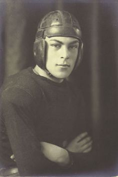 Handsome football player circa early 1900's.