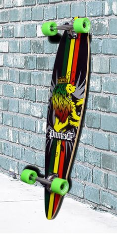 Rasta Pintail Longboard 40 inch from Punked - Complete Board Skateboard, Skateboard Girl, Skateboard Decks, Surfing Tumblr, Girl Surfing, Girl Football Player, Football Players, Surf Girls, Vans Girls