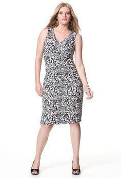 Plus Size Tiered Ruffle Zebra Print Dress | Plus Size Dress SALE | Avenue