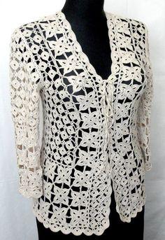 Crochet Summer Jacket Original Designe Irish Lace Beige