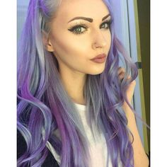 MUA Alyssa Claire ( is dreamy in purple pastel. She used Ultra Violet and Cotton Candy Pink, both diluted with our award-winning Pastel-izer, to get this heavenly look! Pastel Blonde, Pastel Hair, Hair Color Auburn, Hair Color Purple, Hairstyles Haircuts, Pretty Hairstyles, Bright Hair, Colorful Hair, Fall Hair Colors