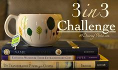 """The """"3 in 3 Challenge"""" from DesiringVirtue.com is you opportunity to join other Christian women reading books that focus on our glorious God and his glorious grace. Join other women around the world and read three books in three months: a theological work, a Christian living book, and a biography!"""