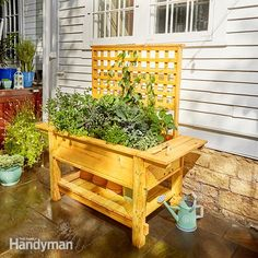 This sturdy, easy-to-build raised mini garden gives you about 8 square feet of planting area.