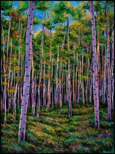Jonathan Harris: aspen tree landscape painting and prints