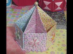505.육각연필꽂이만들기.오월의장미.origami - YouTube                              …