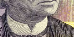 Detail from Canadian money. Money makes the world go round. The currency across Canada is the Canadian dollar. The most commonly available bank notes are $5, $10, $20, $50 and $100.