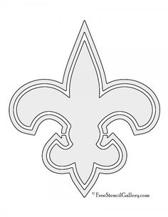 new orleans saints coloring pages for adults | New Orleans Saints logo coloring page | Quilling Me Softly ...