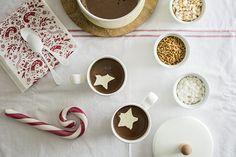 Barra de chocolate caliente - Hot cocoa bar - Hot chocolate bar