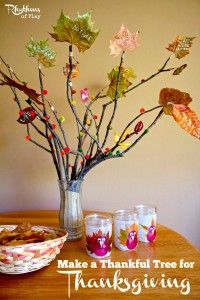 Make a Thankful Tree for Thanksgiving, wonderful activity from @rhythmsofplay. To let grandma be a part of these moments too, download Keepy for free at http://getapp.keepy.me/PIN