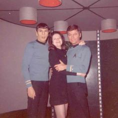 Nimoy and Kelley with Joan Winston (1931–2008). First trekkie, who created the first Star Trek convention!