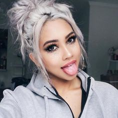 Gray Wigs Lace Frontal Wigs white short wig with bangs – loverlywigs Short Hair With Bangs, Wigs With Bangs, Short Hair Cuts, Short Hair Styles, Trending Hairstyles, Wig Hairstyles, Lace Front Wigs, Lace Wigs, Hair Extensions Cost