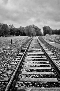"""""""The Cold Rail"""" by Tim Graves on Capture Memphis // A picture of railroad tracks in Moscow,TN."""