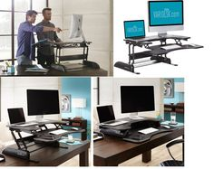 "Sitting all day … standing all day … it's really the ""all day"" part that's the problem. Your body wants to move and this #StandingDesk Adjustable Height makes it easy to switch between sitting and standing throughout your workday."