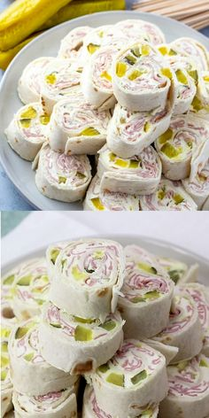 Creamy, crunchy and full of flavor these Pickle Dip Pinwheels are full of cream cheese, sliced ham and diced pickles. The perfect party appetizer. #appetizer #pickles #pinwheels #partyfood #easyrecipe