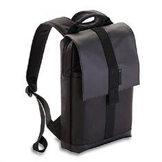GreenSmart Backpack 1)  Made from 100% post-consumer recycled plastic water bottles. 2)  Uses Neogreene- toxic-free formulation  http://www.gogreensmart.com/bags/gaur-backpack