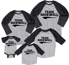 Personalized FAMILY Name & Number Matching Baseball Shirts | Footsteps Clothing