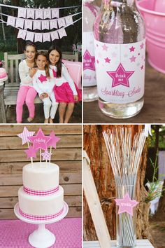 Love the sparkler idea!!!!  Especially since her bday is in July!
