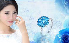 9月の誕生石 ブルーサファイア リング(指輪) リッチな上品セレブ気分 jewel-link9-001WSS