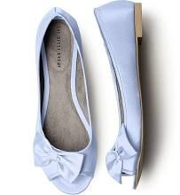 light blue wedding flats --PERFECT for something blue and color theme. :)