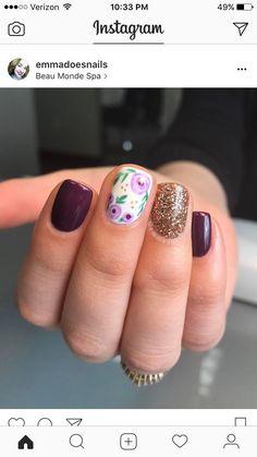 Pedicure Colors, Manicure E Pedicure, Nail Colors, Shellac Nails, Diy Nails, Nail Polish, Glitter Nails, Love Nails, Pretty Nails